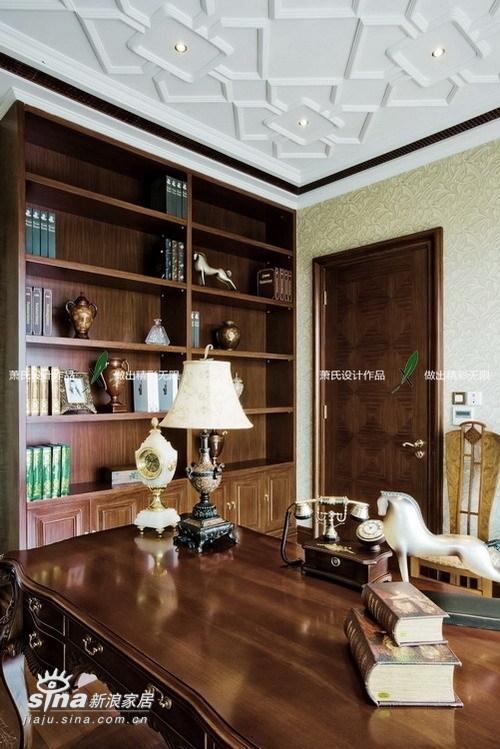 欧式 别墅 书房图片来自用户2757317061在在温馨中尽显东方(二)67的分享