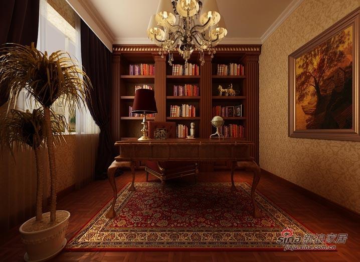 欧式 别墅 书房图片来自用户2746953981在【精美高清-沈阳实创装饰】31的分享