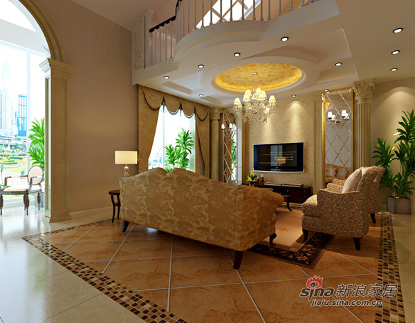 欧式 一居 客厅图片来自用户2772856065在富有新古典韵味的复式楼22的分享