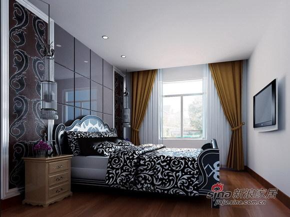 欧式 二居 卧室图片来自用户2557013183在咖啡色为主流的简欧家居设计26的分享