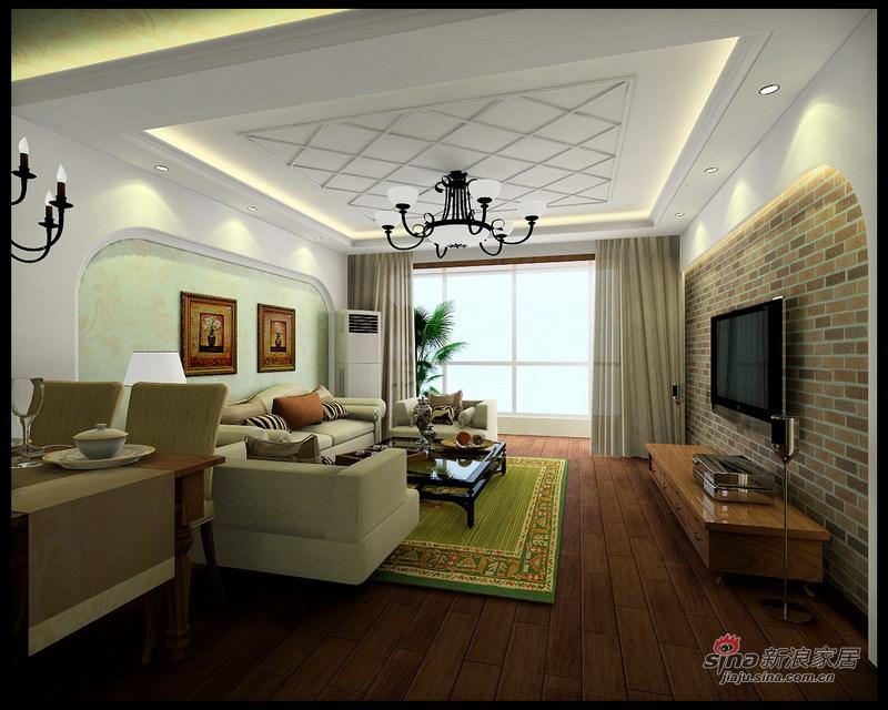 欧式 三居 客厅图片来自用户2772873991在【实景】太阳星城120平温馨舒适美式乡村风格63的分享