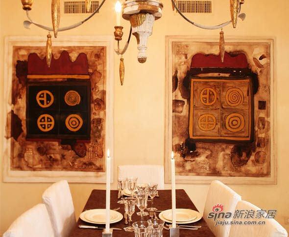 欧式 别墅 餐厅图片来自用户2772856065在70年代风格的Ada别墅设计72的分享