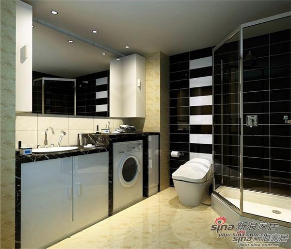 简约 二居 卫生间图片来自用户2737950087在5.3万大包模式装修90平米婚房设计94的分享