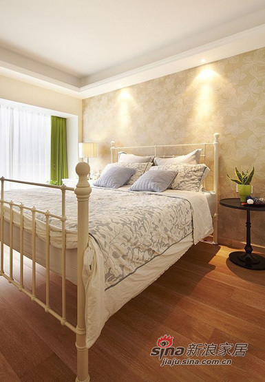 美式 三居 卧室图片来自用户1907685403在11万铸造140平美式风格三居室45的分享