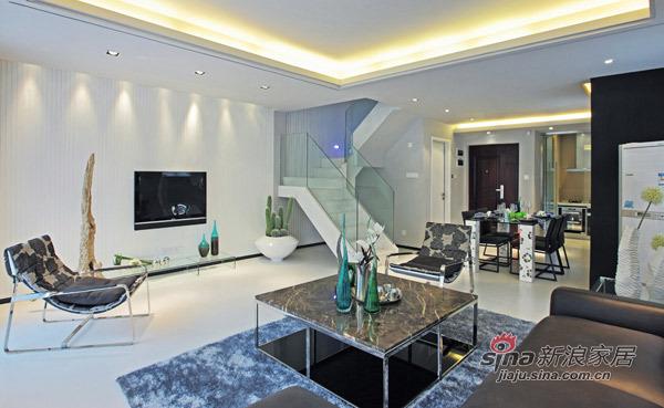 简约 别墅 客厅图片来自用户2739081033在280㎡中邦城市别墅样板房87的分享