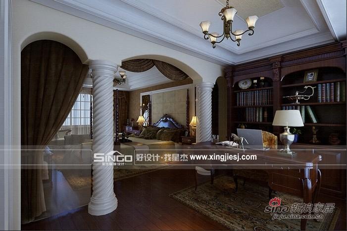 美式 别墅 书房图片来自用户1907685403在打造休闲美式加州风格别墅72的分享