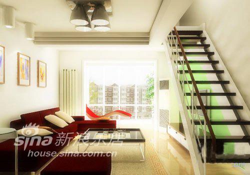 简约 复式 客厅图片来自用户2745807237在极简复式设计 秀出迷人色彩62的分享