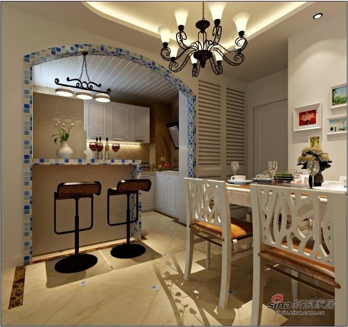 简约 一居 餐厅图片来自用户2738813661在60平米小两居地中海打造梦幻家居46的分享