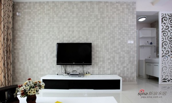正面看电视背景墙