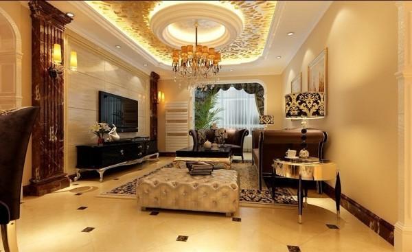 欧式 复式 客厅图片来自用户2746869241在古典欧式风格打造120平米复式59的分享