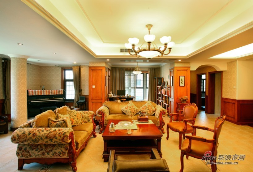 欧式 别墅 客厅图片来自用户2746889121在500平湖边风景优美独立别墅60的分享