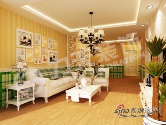 简约 二居 客厅图片来自阳光力天装饰在90平两居带你回归大自然74的分享