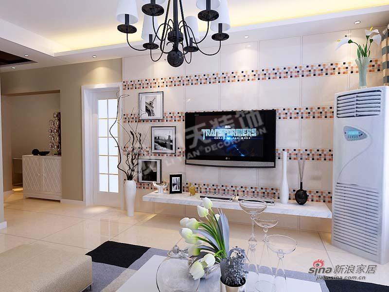 简约 三居 客厅图片来自阳光力天装饰在金筑花园-3室1厅1厨1卫-简约风格83的分享