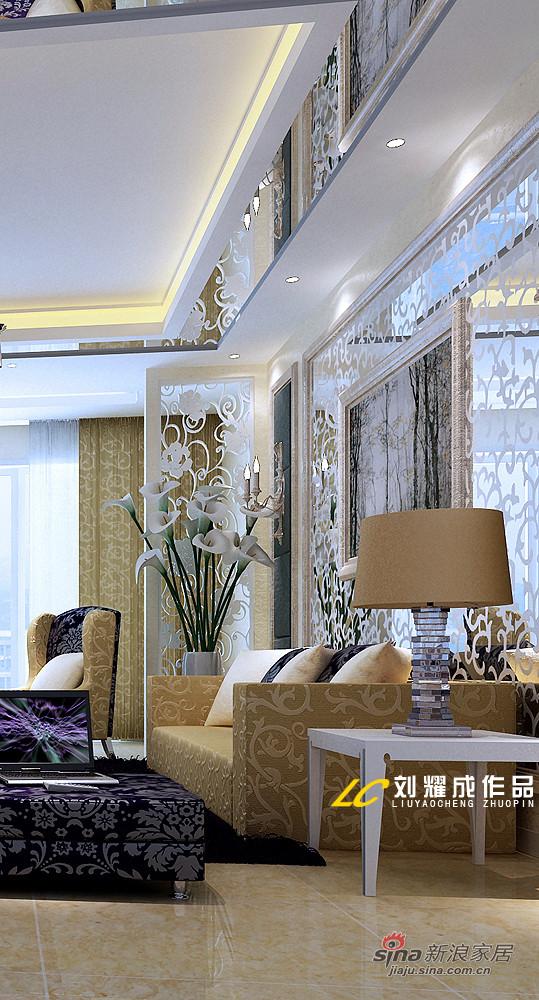 简约欧式客厅沙发背景墙