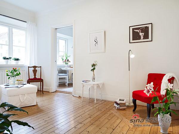 简约 二居 客厅图片来自用户2738845145在53平90后新婚2居 古典清新蜗居也幸福84的分享