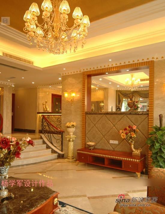 简约 复式 客厅图片来自用户2737786973在10万营造180平古典欧式设计81的分享