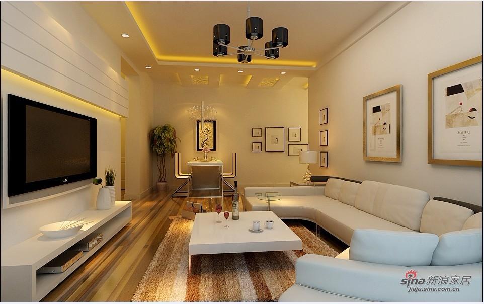 简约 二居 客厅图片来自用户2557010253在5.4万打造小资情调80平家52的分享