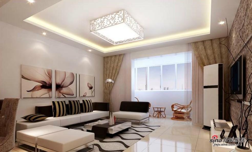 简约 二居 客厅图片来自用户2557979841在6.2万巧装105平现代简约家50的分享