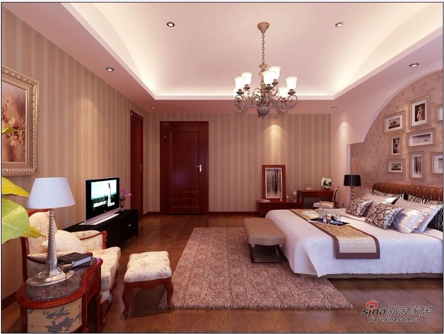 欧式 三居 卧室图片来自用户2745758987在140平米简欧设计舒适大方家居40的分享