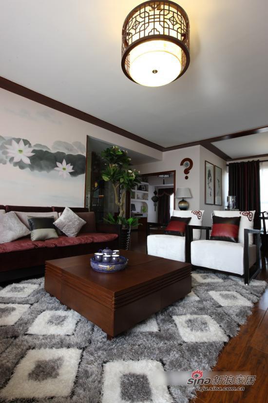 中式 一居 客厅图片来自用户1907661335在现代中式风格 沉淀下来的韵味12的分享