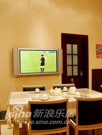 餐厅的电视墙