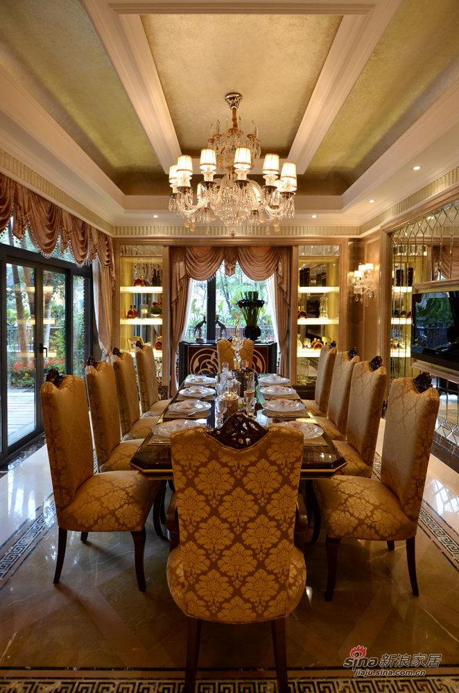 欧式 别墅 餐厅图片来自用户2772856065在217平佛山招商依水云岸四期21号楼别墅35的分享