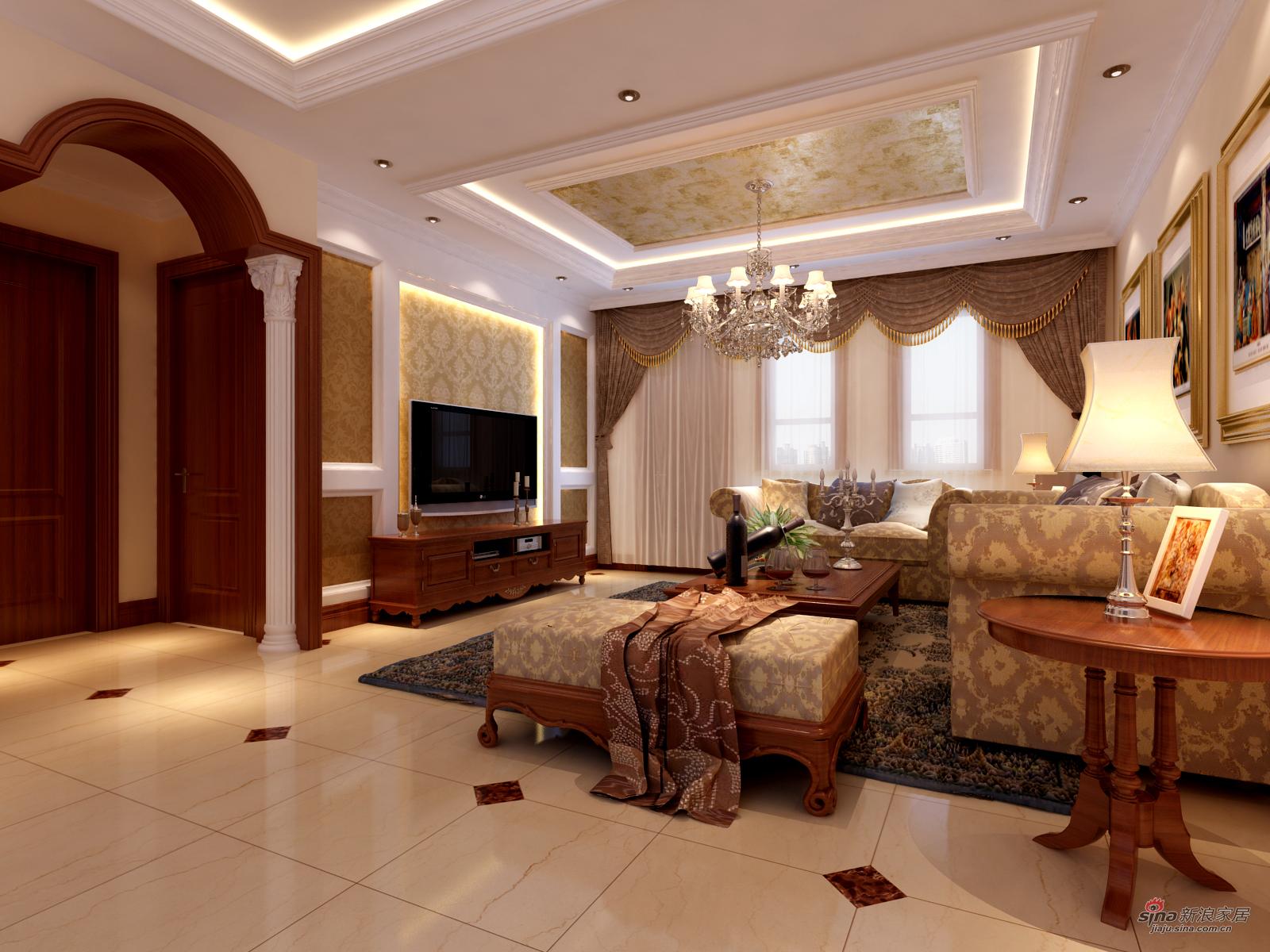 混搭 别墅 客厅图片来自用户1907655435在永定河孔雀城210平简约欧式设计风格10的分享