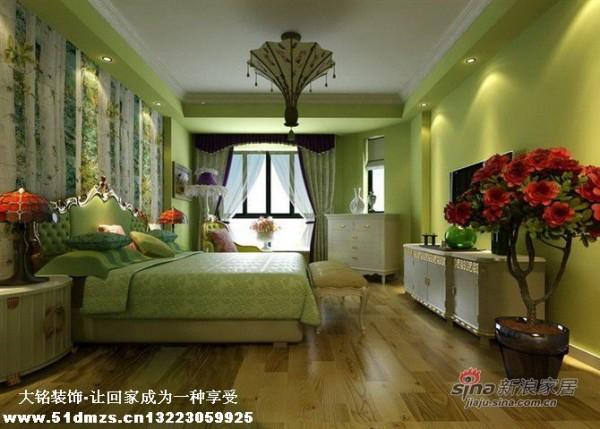 美式乡村风格家庭装修设计-卧室设计效果图