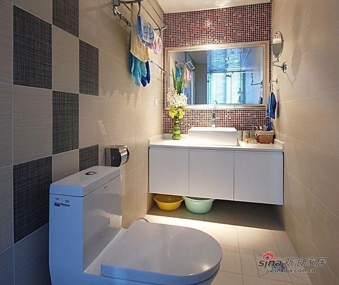 简约 二居 卫生间图片来自用户2559456651在100平都市白领时尚华丽两居室98的分享