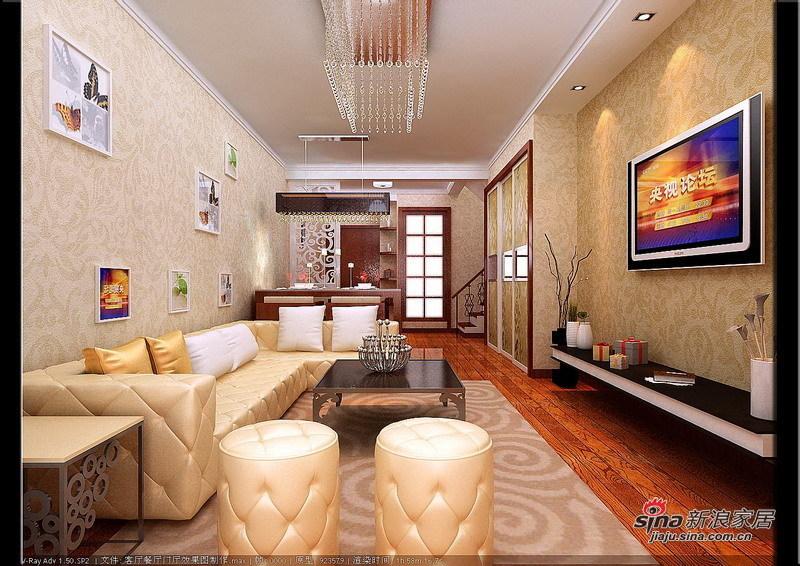 欧式 loft 客厅图片来自用户2746953981在7.2万铸造现代简约欧式风格loft74的分享