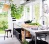 """简约小厨房适合""""主房""""外面延伸出来的厨房"""