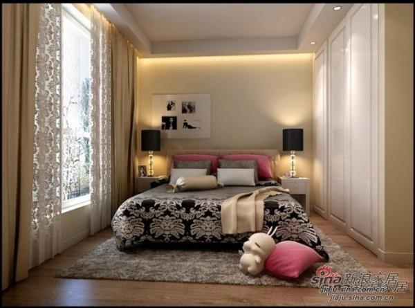 简约 二居 卧室图片来自用户2737786973在5万巧装现代简约两居室爱家92的分享