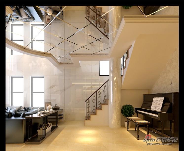 混搭 别墅 楼梯图片来自用户1907691673在新中式混搭尊享极品豪宅41的分享