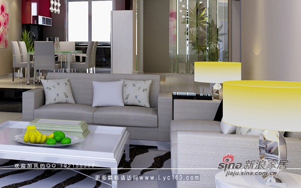 简约 三居 客厅图片来自用户2558728947在银港水晶城样板房23的分享