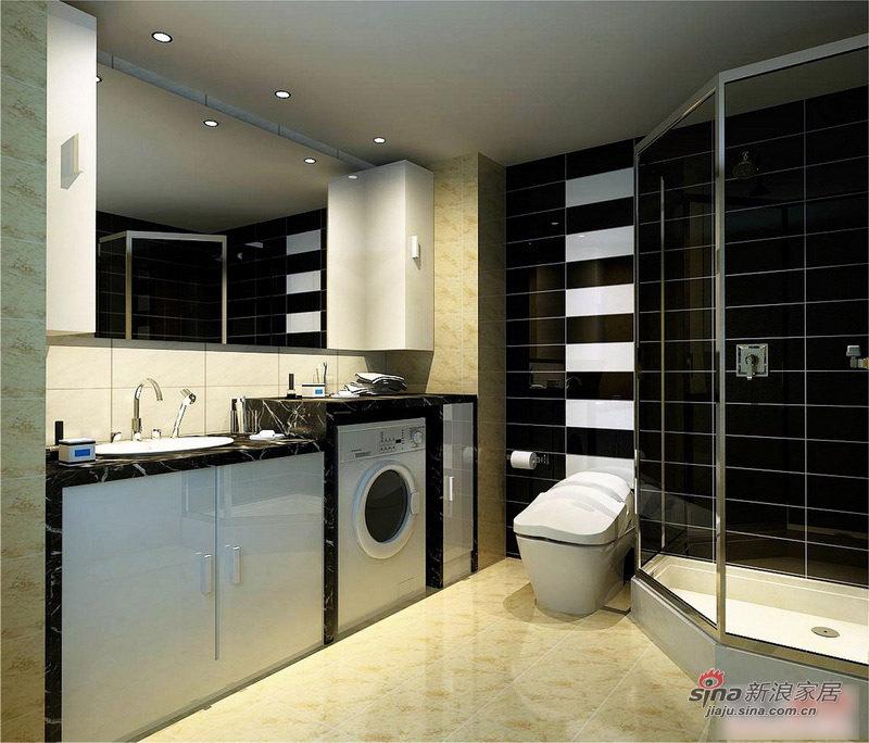 简约 二居 卫生间图片来自用户2559456651在5.3万打造时尚90平黑白基调简约婚房74的分享
