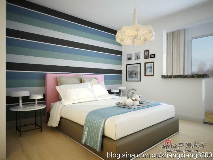 简约 二居 卧室图片来自用户2738813661在5.4万打造105平雅致两居68的分享