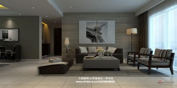简约风格家庭装修设计-客厅装修效果图