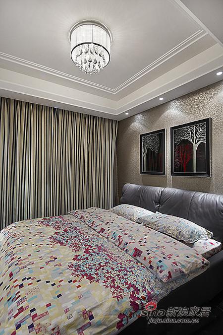 卧室简约时尚的设计,真皮的双人床,田园的