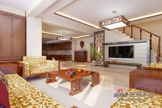 中式 别墅 客厅图片来自用户1907658205在23W打造225平米中式情节的东方意境97的分享