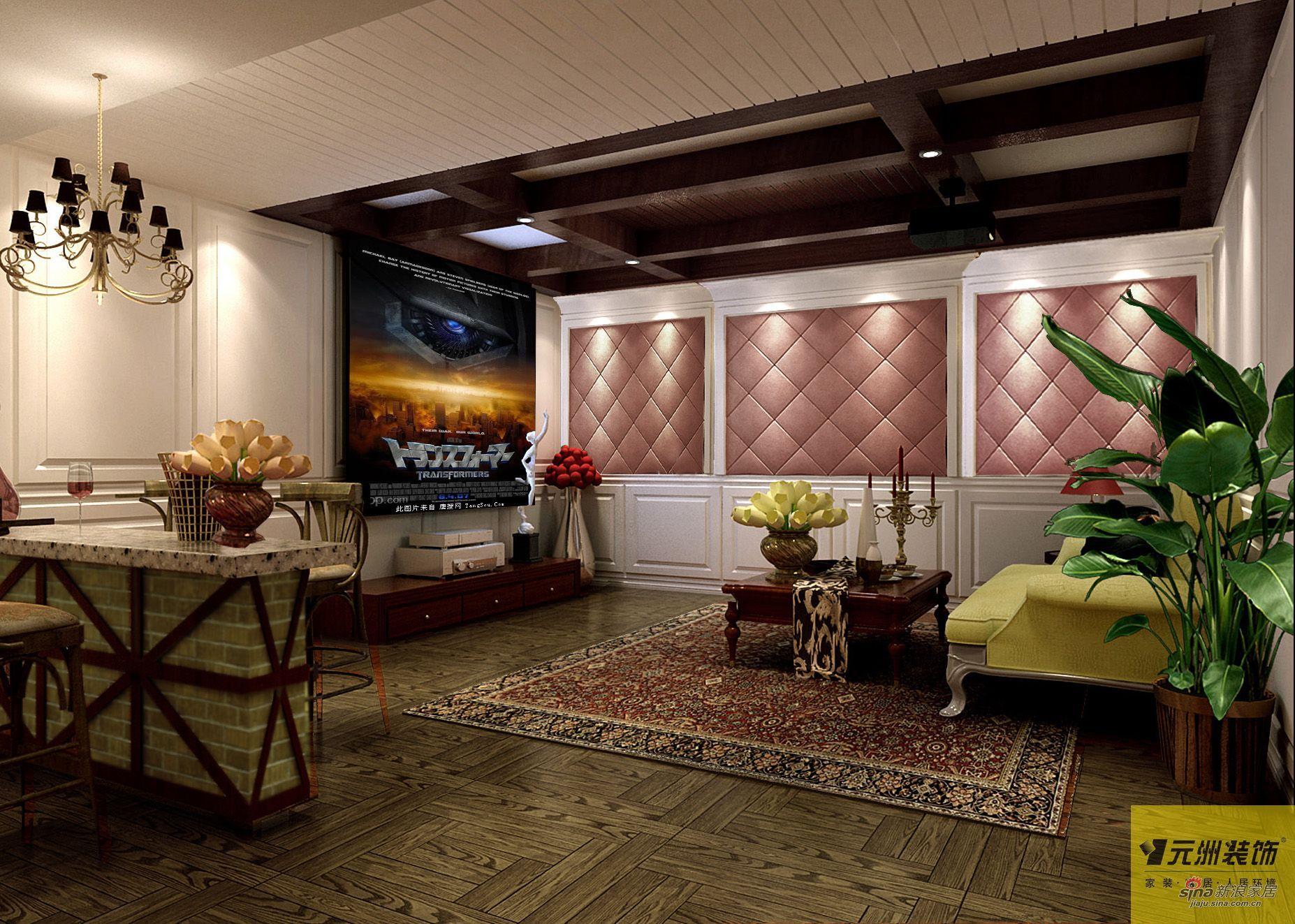 欧式 别墅 客厅图片来自用户2746869241在尚湖世家300平下叠别墅欧美风46的分享