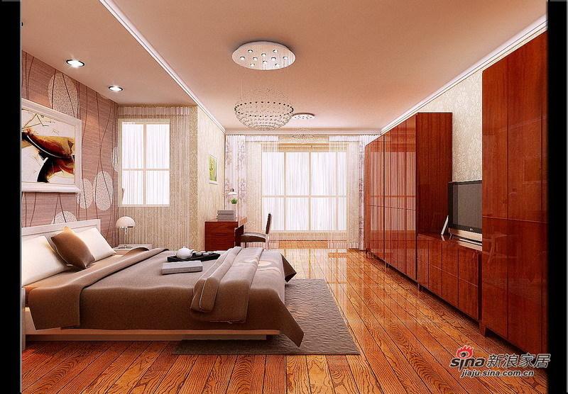 欧式 loft 卧室图片来自用户2746953981在7.2万铸造现代简约欧式风格loft74的分享