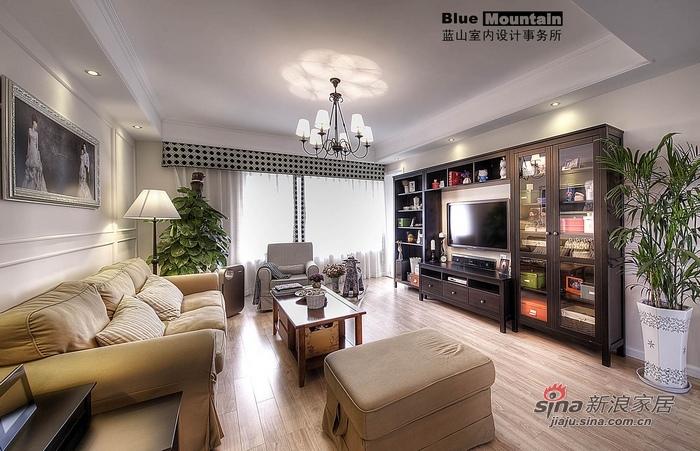 美式 二居 客厅图片来自用户1907686233在10万混搭小资英伦风情2居64的分享