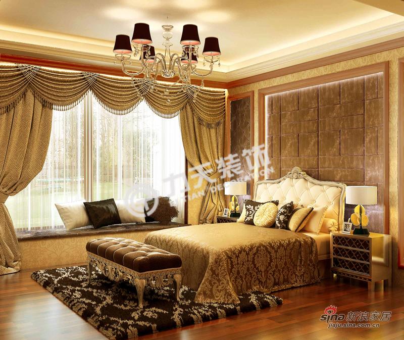 欧式 三居 卧室图片来自阳光力天装饰在金融街中心-三室三厅三卫-简欧风格34的分享