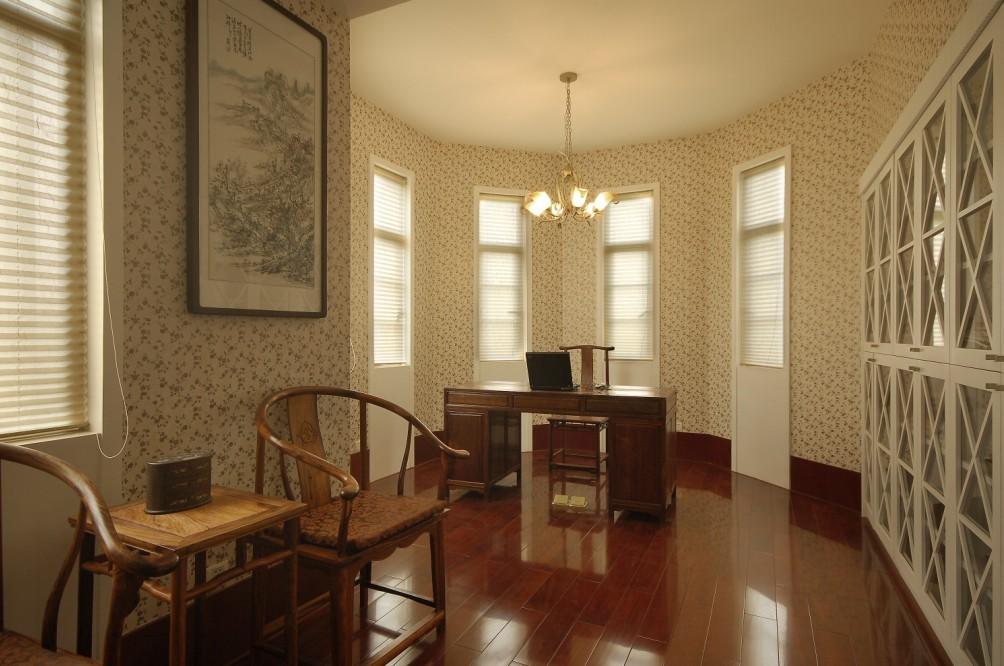 中式 别墅 书房图片来自用户1907659705在尽显 中式情节27的分享