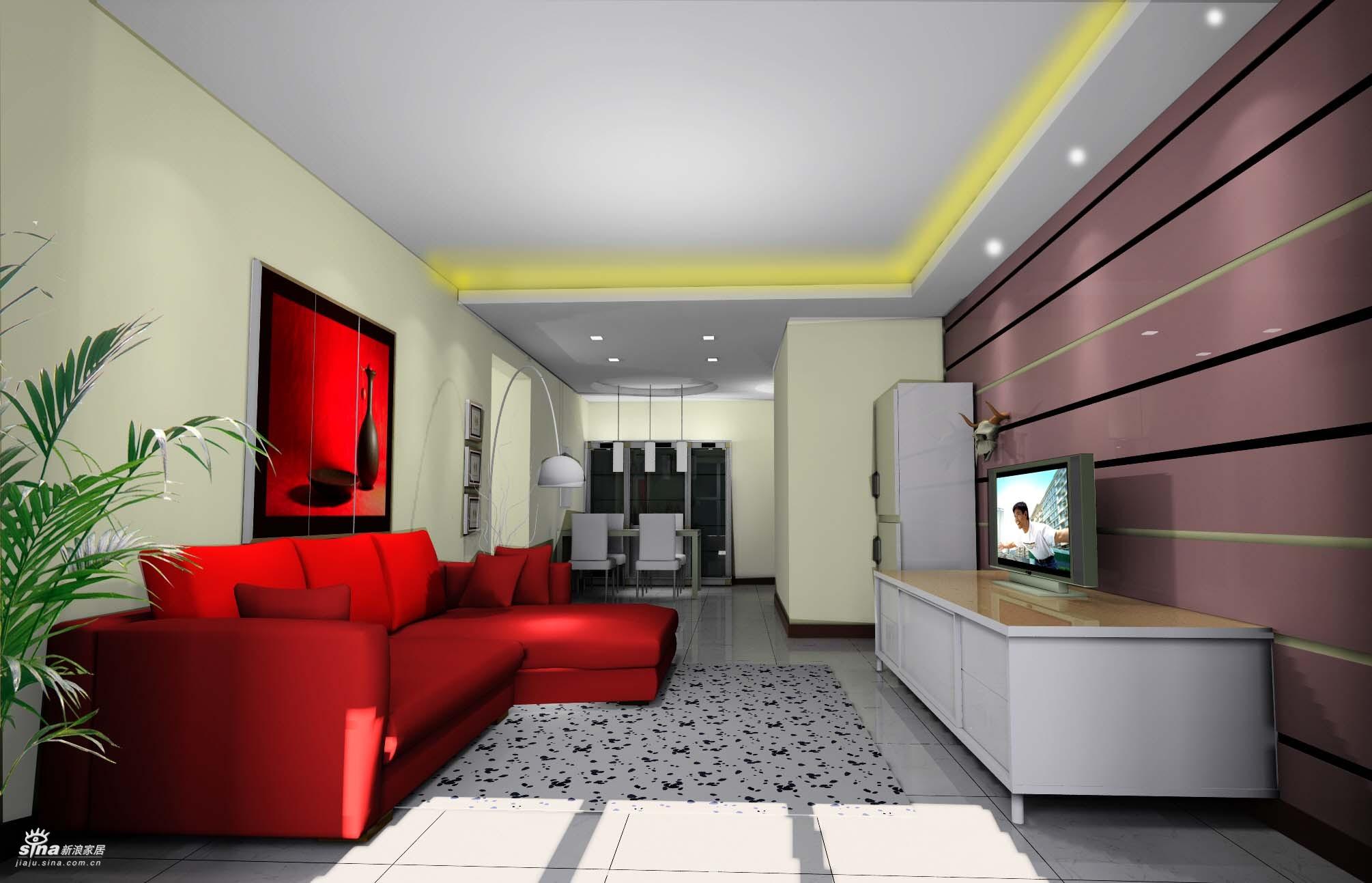 简约 三居 客厅图片来自用户2738820801在简约现代风格86的分享