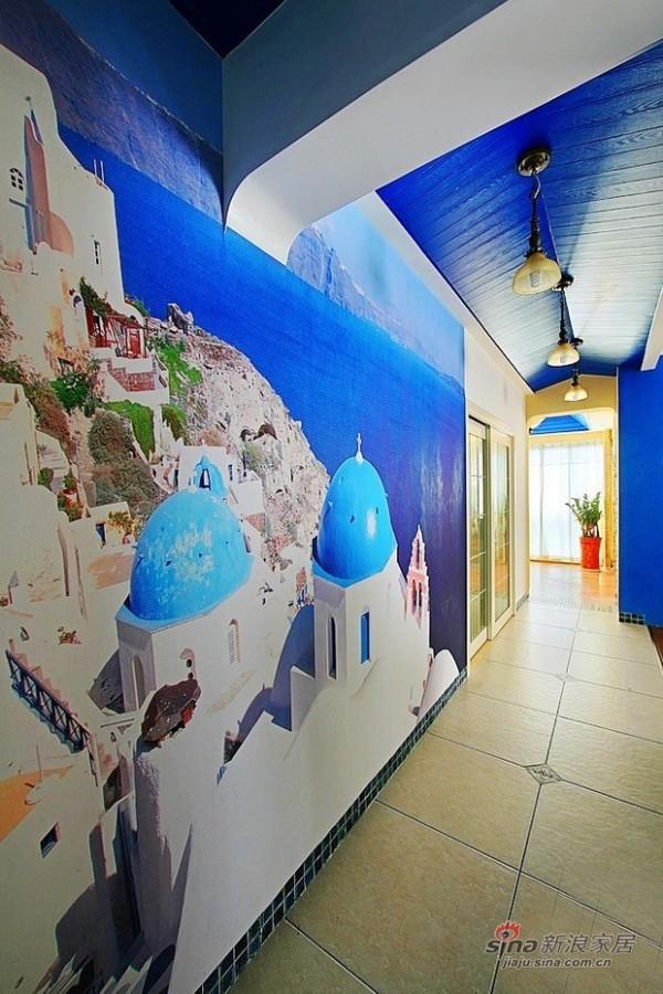 走廊,墙绘