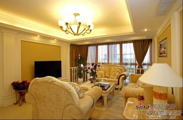 欧式 四居 客厅图片来自用户2557013183在14万装130㎡欧式雅致美家19的分享