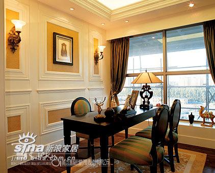 欧式 别墅 书房图片来自用户2772873991在深圳天悦龙庭示范单位90的分享