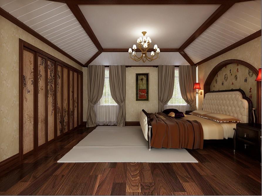 中式 别墅 卧室图片来自用户1907696363在270平米复式结构现代中式风格打造舒适家居94的分享