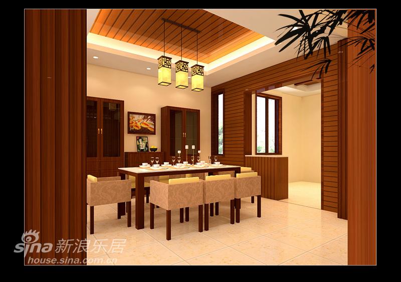 中式 别墅 餐厅图片来自用户2737751153在中式韵味别墅15的分享